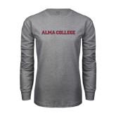 Grey Long Sleeve T Shirt-Alma College