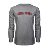 Grey Long Sleeve T Shirt-Alma Scots Arched