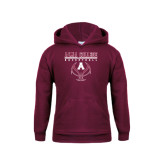Youth Maroon Fleece Hoodie-Stacked Basketball Design