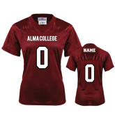 Ladies Maroon Replica Football Jersey-Personalized