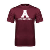 Performance Maroon Tee-Basketball