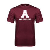 Performance Maroon Tee-Wrestling