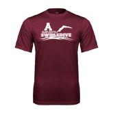 Performance Maroon Tee-Swim and Dive