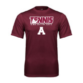 Performance Maroon Tee-Tennis Design