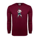 Maroon Long Sleeve T Shirt-Scotty