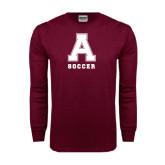 Maroon Long Sleeve T Shirt-Soccer