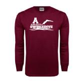Maroon Long Sleeve T Shirt-Swim and Dive
