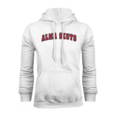 White Fleece Hoodie-Alma Scots Arched
