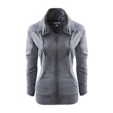 Ladies Sport Wick Stretch Full Zip Charcoal Jacket-Scotty