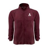 Fleece Full Zip Maroon Jacket-Stacked Alma