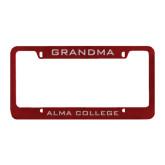 Metal Maroon License Plate Frame-Grandma