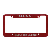 Alumni Metal Maroon License Plate Frame-Alumni