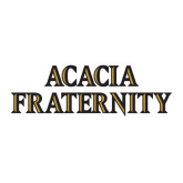 Large Decal-ACACIA Fraternity Stacked, 12in wide