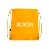Gold Drawstring Backpack-ACACIA