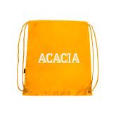Gold Drawstring Backpack-ACACIA