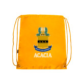 Gold Drawstring Backpack-ACACIA Crest