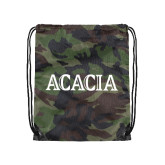 Camo Drawstring Backpack-ACACIA