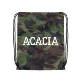 Camo Drawstring Backpack-ACACIA
