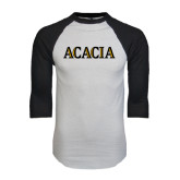 White/Black Raglan Baseball T-Shirt-ACACIA