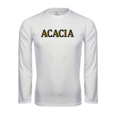 Syntrel Performance White Longsleeve Shirt-ACACIA