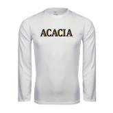 Syntrel Performance White Longsleeve Shirt-ACACIA