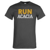 Charcoal T Shirt-RUN ACACIA