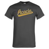 Charcoal T Shirt-ACACIA Script