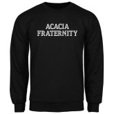 Black Fleece Crew-ACACIA Fraternity Stacked
