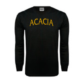 Black Long Sleeve TShirt-ACACIA Arched