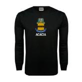 Black Long Sleeve TShirt-ACACIA Crest