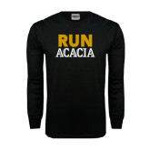 Black Long Sleeve TShirt-RUN ACACIA