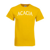 Gold T Shirt-ACACIA Arched