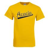 Gold T Shirt-ACACIA Script