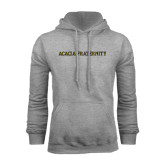 Grey Fleece Hoodie-ACACIA Fraternity