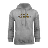 Grey Fleece Hoodie-ACACIA Fraternity Stacked