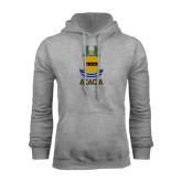 Grey Fleece Hoodie-ACACIA Crest