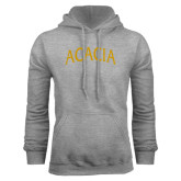Grey Fleece Hoodie-ACACIA Arched