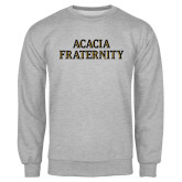 Grey Fleece Crew-ACACIA Fraternity Stacked