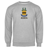Grey Fleece Crew-ACACIA Crest