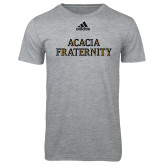 Adidas Sport Grey Logo T Shirt-ACACIA Fraternity Stacked