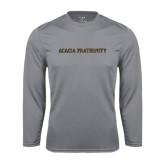 Performance Steel Longsleeve Shirt-ACACIA Fraternity