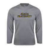 Performance Steel Longsleeve Shirt-ACACIA Fraternity Stacked