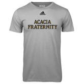 Adidas Climalite Sport Grey Ultimate Performance Tee-ACACIA Fraternity Stacked