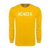 Gold Long Sleeve T Shirt-ACACIA