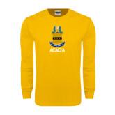 Gold Long Sleeve T Shirt-ACACIA Crest