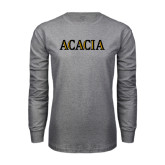 Grey Long Sleeve T Shirt-ACACIA