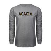 Grey Long Sleeve T Shirt-ACACIA