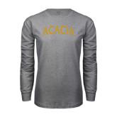 Grey Long Sleeve T Shirt-ACACIA Arched