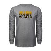 Grey Long Sleeve T Shirt-Rush ACACIA