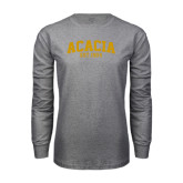 Grey Long Sleeve T Shirt-ACACIA Est. 1904